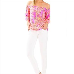 Lilly Pulitzer Enna Off The Shoulder Top Size XXS